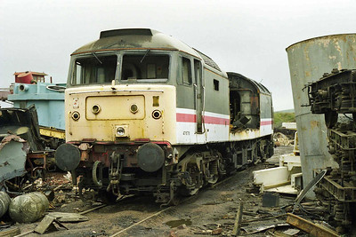 A last look at 47676 - or at least what was left of this once fine machine (05/04/1998)