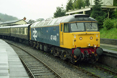 47449 at Llangollen with the 1330 to Carrog during the Llangollen Railway's Spring Diesel Gala (19/04/1998)