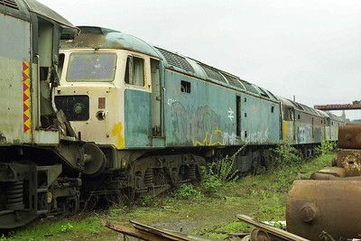 From left to right: 47222, 47096, 47321, 47291 await a similar fate at Booths (05/04/1998)
