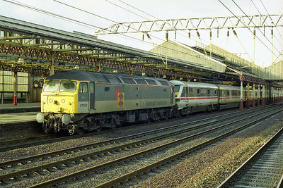 A couple of hours later 47360 is pictured again on arrival at Crewe with 1A51 1235 Preston - Euston (01/11/1998)