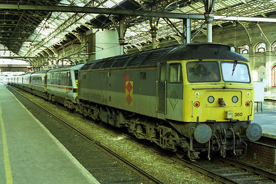 47360 is pictured again the following day at Preston prior to working 1A51 1235 to London Euston to Crewe over the non-electrified route via Bolton (01/11/1998)