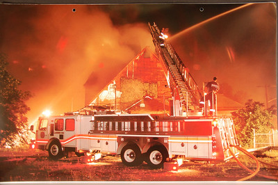Fire Trucks in Action Calendar - 2000