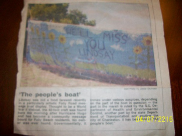 It also made the paper!!