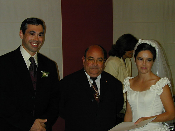 The hombre who married us.