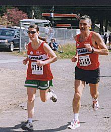 1999 Alberni 10K - Bob and Shelby Reid