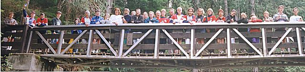 1999 Alberni 10K - The Harriers post-race social at Little Qualicum Falls