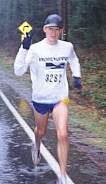 1999 Cedar 15K - James Davison in good spirits despite the conditions