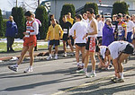 1999 Comox Half Marathon - Alex does a dance to warmup