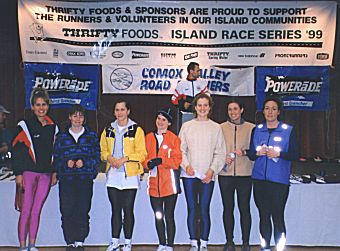 1999 Comox Half Marathon - F2529 Age Group - Rhonda Callender wins