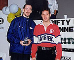 1999 Harriers 8K - Paddy McCluskey gets the trophy