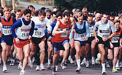 1999 Hatley Castle 8K - The Start - Alex and Paddy go to the front