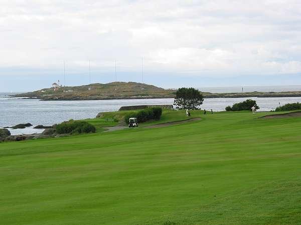 Royal Victoria Marathon Landmarks - 1999 Course - Victoria Golf Club and Trial Island