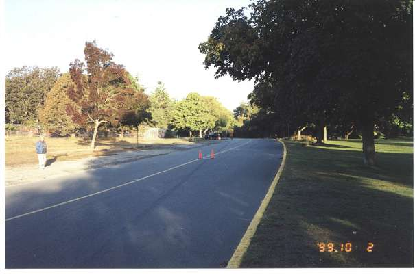 Royal Victoria Marathon Landmarks - 1999 Course - 38 km - On Circle Drive in the park