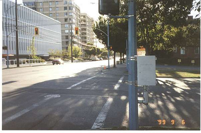 Royal Victoria Marathon Landmarks - 1999 Course - 2 km - Johnson St. at Vancouver