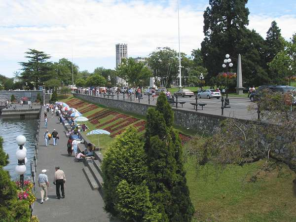 Royal Victoria Marathon Landmarks - 1999 Course - The Finish - Belleville St. infront of the Legislature