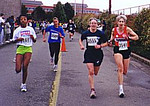 1999 UVic 5K - Ladies first at the finish