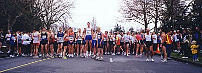 1999 UVic 5K - Warming up - Nick Walker gets huge air