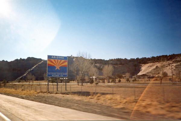 Jan. 4 - Entering Arizona.