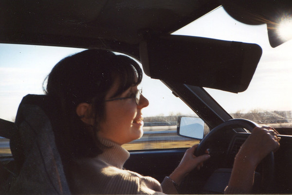 Jan. 1 -- Raquel Driving.