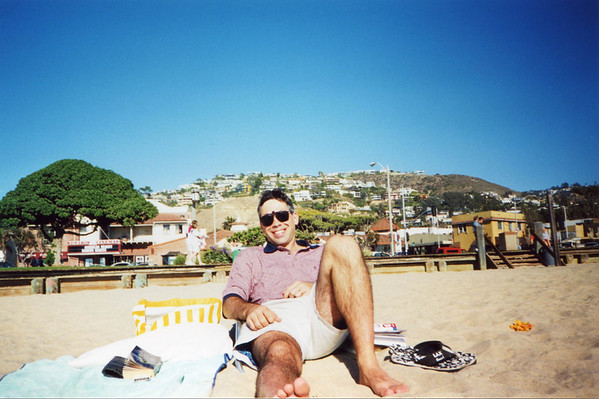 Relaxing in Laguna Beach, Ca.