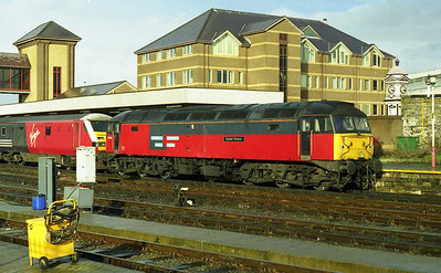 47783 'Saint Peter' waits to head back to Crewe with the SuO 1A75 1610 Holyhead-London Euston (21/02/1999)