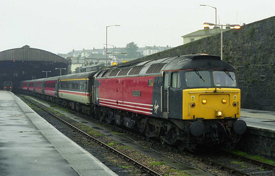 47807 'The Lion of Vienna' awaits departure from Penzance with 1M56 0848 to Manchester Piccadilly (13/02/1999)