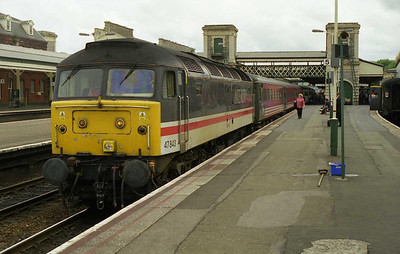 47843 pauses at Exeter St Davids with 1M31 1300 Paignton-Manchester Piccadilly (03/07/1999)