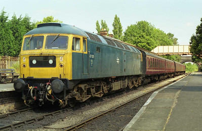 47105 at Toddington prior to departure with the 1130 service for Gotherington (11/07/1999)