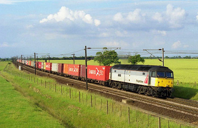 47270 'Cory Brothers 1842-1992' accelerates past Colton Junction with Freightliner's 4L79 1616 Wilton-Felixstowe (06/07/1999)