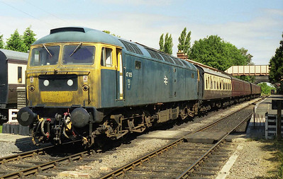 47105 at Toddington with a morning departure for Gotherington during the 1999 Brush Type 4 Fund's 'Members' Day'. The loco had been specially 'weathered' for the occasion (23/07/1999)