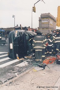 Rollover w/ extrication in Brooklyn 1999 Jan at Flatbush & Tillery