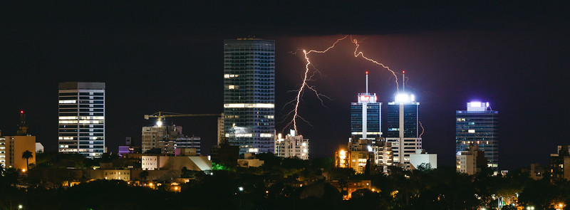 WTC bajo tormenta