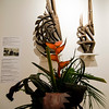 Birdie Theriault's interpretation of  'Female Antelope Headcrest' on display at Fitchburg Art Museum's 19th Annual Art in Bloom on Friday, March 31, 2017. SENTINEL & ENTERPRISE / Ashley Green