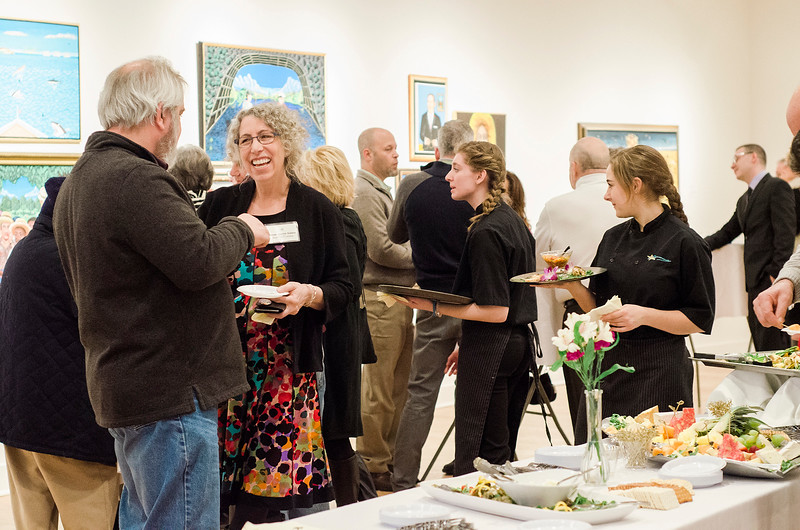 Guests enjoy  Fitchburg Art Museum's 19th Annual Art in Bloom on Friday, March 31, 2017. SENTINEL & ENTERPRISE / Ashley Green