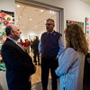 Fitchburg State University President Richard Lapidus chats with State Representative Stephan Hay during Fitchburg Art Museum's 19th Annual Art in Bloom on Friday, March 31, 2017. SENTINEL & ENTERPRISE / Ashley Green