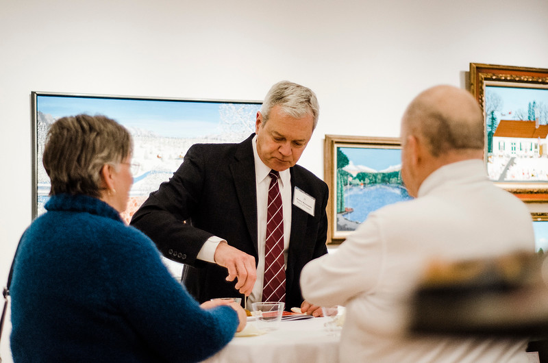 Andre Ravenelle joins guests at Fitchburg Art Museum's 19th Annual Art in Bloom on Friday, March 31, 2017. SENTINEL & ENTERPRISE / Ashley Green
