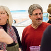 Mayor Stephen DiNatale and wife Joanne chat with guests during Fitchburg Art Museum's 19th Annual Art in Bloom on Friday, March 31, 2017. SENTINEL & ENTERPRISE / Ashley Green
