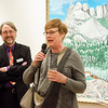 Lori Krinsky, winner of the Kay Previte Prize, addresses the crowd during Fitchburg Art Museum's 19th Annual Art in Bloom on Friday, March 31, 2017. SENTINEL & ENTERPRISE / Ashley Green