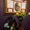 Lucille Maynard's interpretation of  'Norcross Pallette' on display at Fitchburg Art Museum's 19th Annual Art in Bloom on Friday, March 31, 2017. SENTINEL & ENTERPRISE / Ashley Green