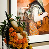 Lori Krinksy's interpretation of  'Gelede Masquerader' on display at Fitchburg Art Museum's 19th Annual Art in Bloom on Friday, March 31, 2017. SENTINEL & ENTERPRISE / Ashley Green