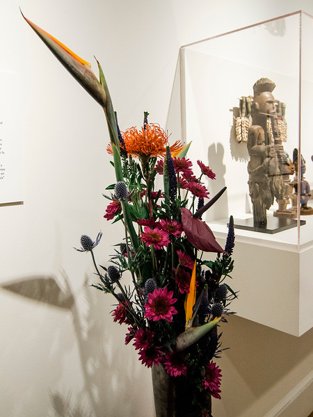 Kathy Foster's interpretation of  'Portrait of Elder' on display at Fitchburg Art Museum's 19th Annual Art in Bloom on Friday, March 31, 2017. SENTINEL & ENTERPRISE / Ashley Green