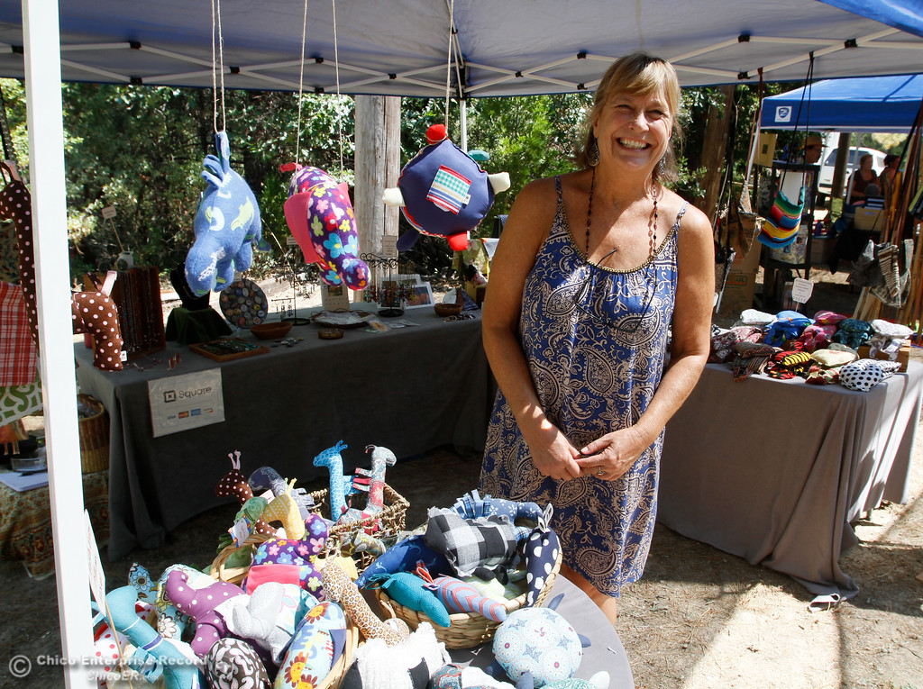 . Tara Becraft stands at her craft booth during the 19th annual  Berry Creek Berry Festival Saturday August 12, 2017 in Berry Creek, California. (Emily Bertolino -- Enterprise- Record)