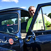 Standing by his custom 1955 Ford F-100 is Wayne Walton of Groton, Ma. at the Charity Car Show hosted by 1A Auto, on the Pepperell Town Field. SUN/David H. Brow
