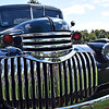 Now smile, on this 1941 Chev PU truck, shown here out for the 1st time after surving a fire at Conway Auto dealership in Pepperell, now on display at the 1A Charity Car Show. SUN/David H. Brow