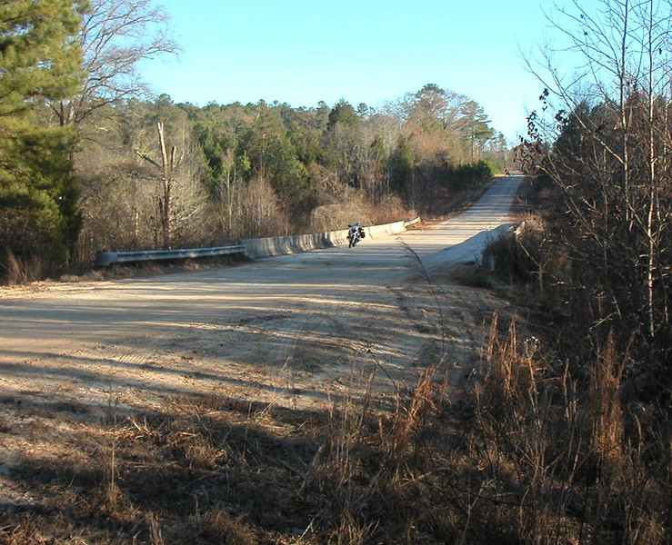 Road close to Meriwether Lewis'  boyhood home.  Letters written during the period indicates that Meriwether was active in the outdoors in both hunting, fishing and playing with the local Creek Indian children.