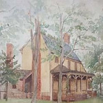 This painting illustrates what the Lewis family farm probably looked like at Locust Hill between 1770 to 1820.  Eventually both Lewis and his mother would return to live at Ivy, VA.