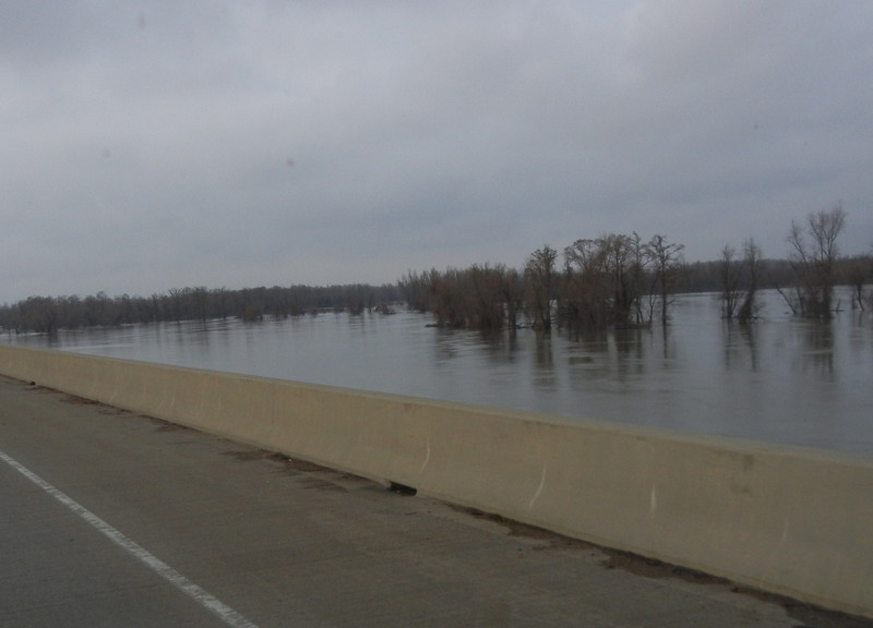 View of Ohio River merging into the Mississippi River.