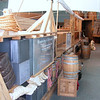 Cut-away view of the front of the keelboat.  This replica cut-away keelboat is located at the Wood River Camp Dubois temporary fort.