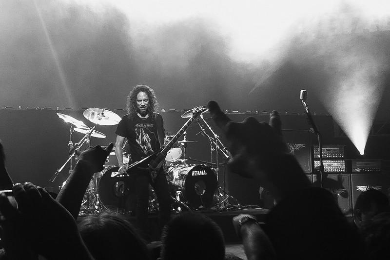 Kirk Hammett poses Metallica, Live at Hangar 8, Santa Monica Airport, CA. 4 November, 2010