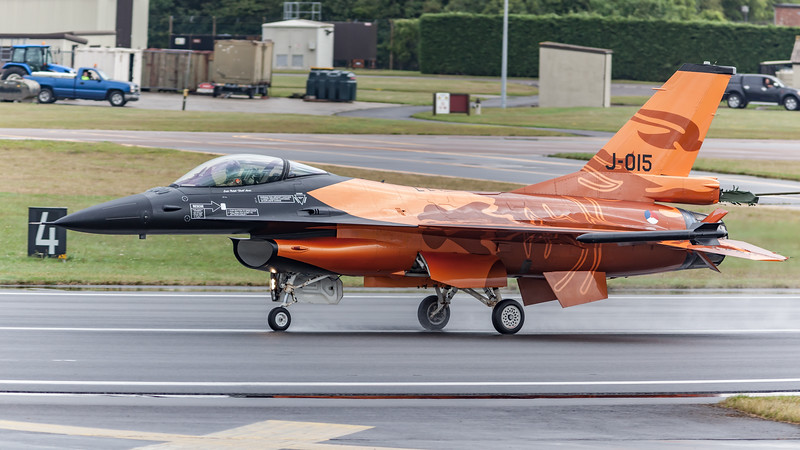 F-16 Fighting Falcon, F-16AM, J-015, Lockheed Martin, Orange Lion, RIAT 2009, Royal Netherlands Air Force, Viper - 19/07/2009